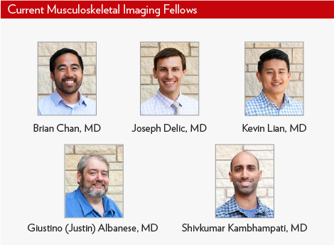 Current MSK Fellows, Drs. Brian Chan, Joseph Delic, and Shivkumar Kambhampati