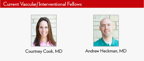 Current Vascular Interventional Fellows, Drs. Courtney Cook and Andrew Heckman