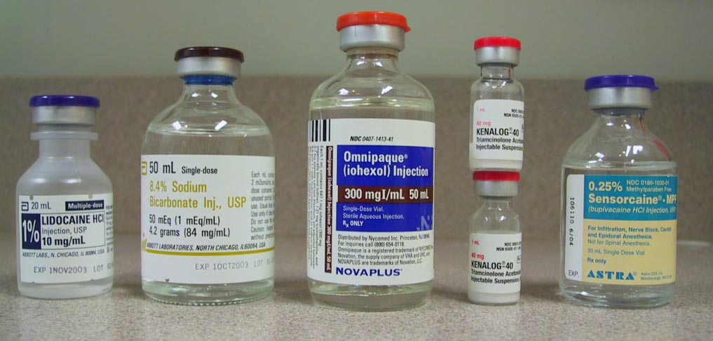 Fig 1: Cervical epidural injection meds.