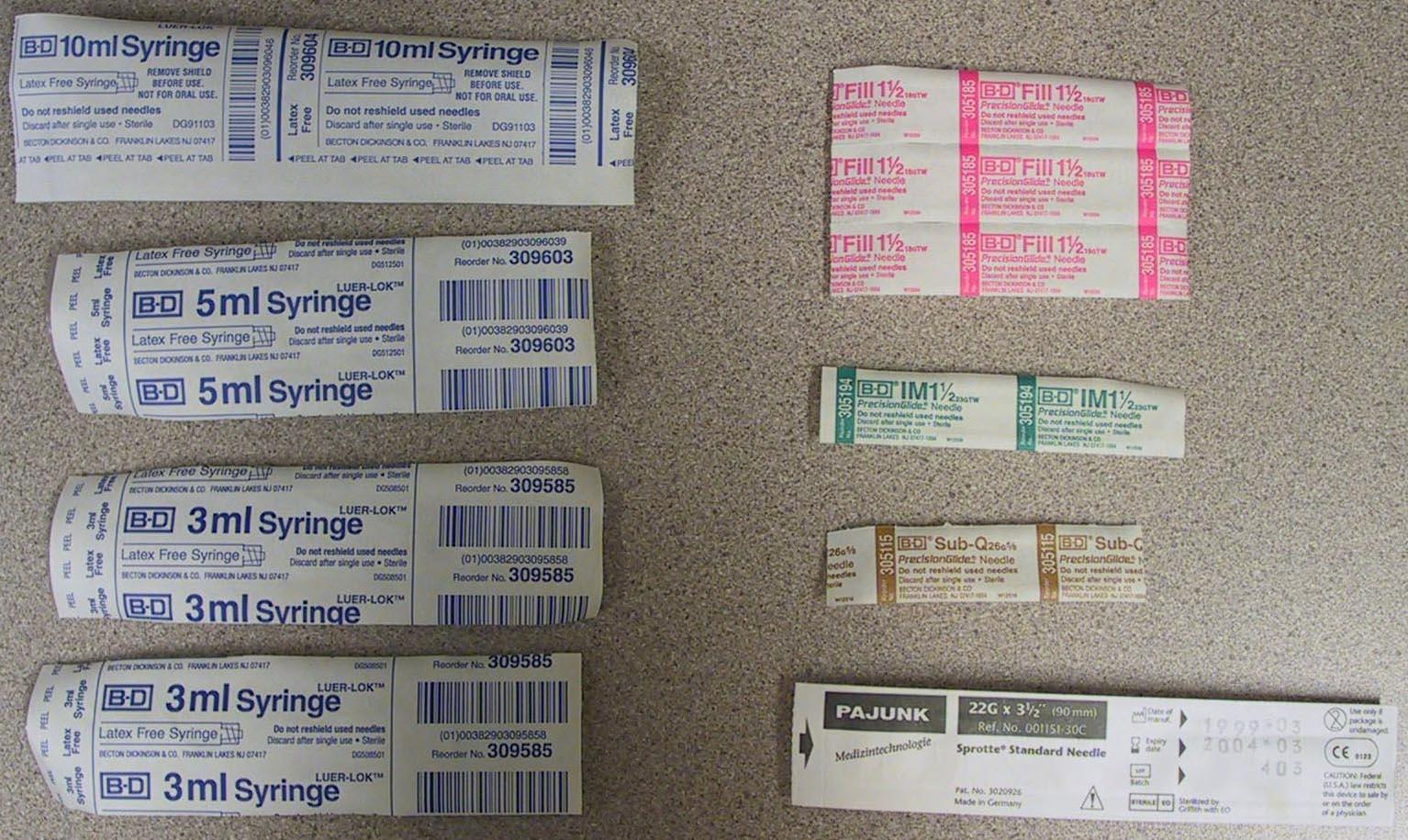 18g needles steroids